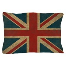 Vintage Union Jack Pillow Case