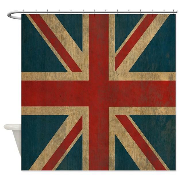Vintage Union Jack Shower Curtain By Oneworldgear