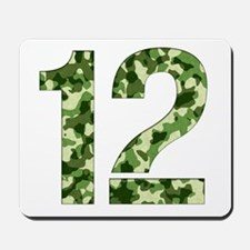 Number 12, Camo Mousepad