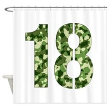 Number 18, Camo Shower Curtain