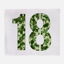 Number 18, Camo Throw Blanket