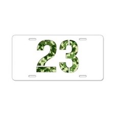 Number 23, Camo Aluminum License Plate