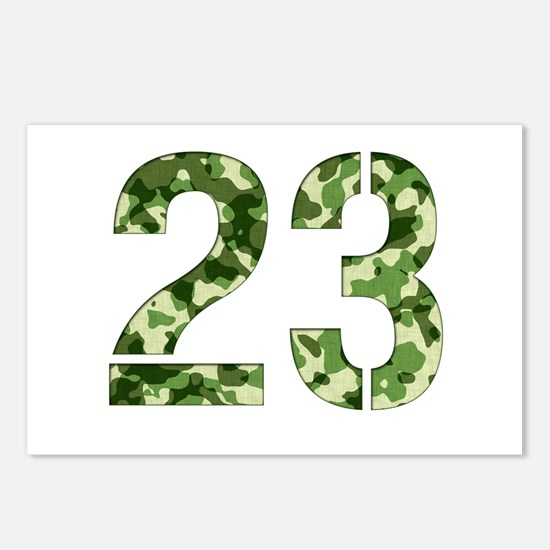 Number 23, Camo Postcards (Package of 8)