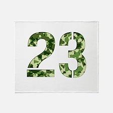 Number 23, Camo Throw Blanket