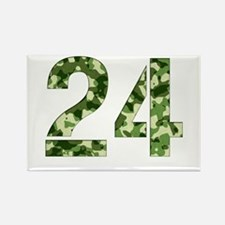Number 24, Camo Rectangle Magnet