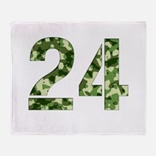 Number 24, Camo Throw Blanket