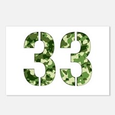 Number 33, Camo Postcards (Package of 8)