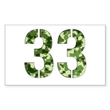 Number 33, Camo Decal