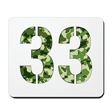 Number 33, Camo Mousepad