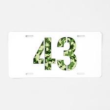 Number 43, Camo Aluminum License Plate