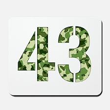 Number 43, Camo Mousepad