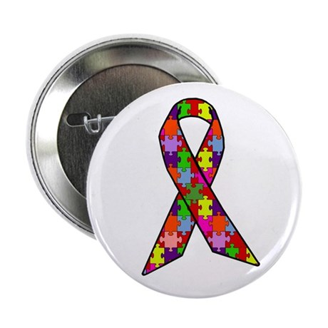 "Autism Awareness Ribbon 2.25"" Button"