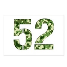 Number 52, Camo Postcards (Package of 8)