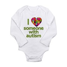 I Love Someone with Autism Long Sleeve Infant Body