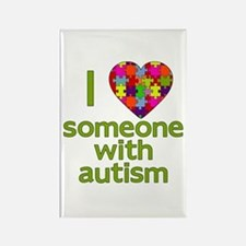I Love Someone with Autism Rectangle Magnet