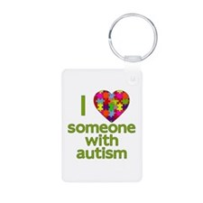 I Love Someone with Autism Keychains