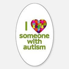 I Love Someone with Autism Decal