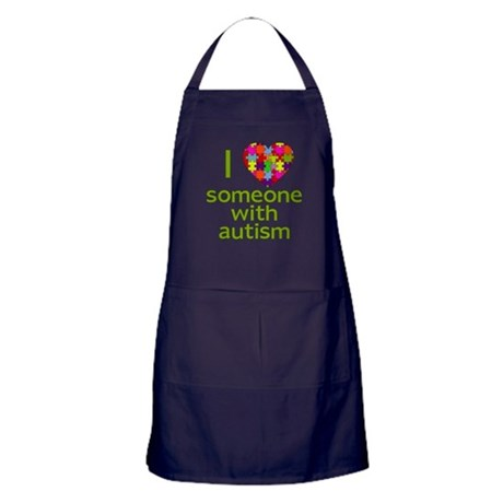 I Love Someone with Autism Apron (dark)
