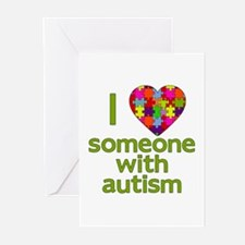 I Love Someone with Autism Greeting Cards (Pk of 1