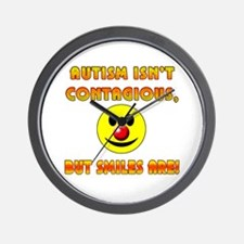 Autism Isnt Contagious but Smiles Are Wall Clock