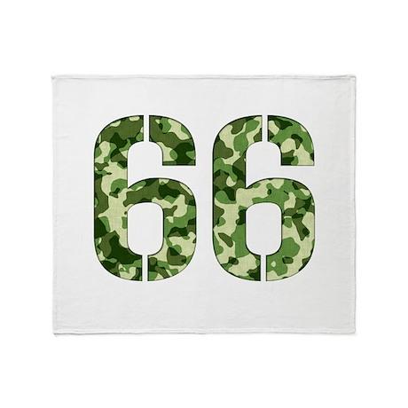 Number 66, Camo Throw Blanket