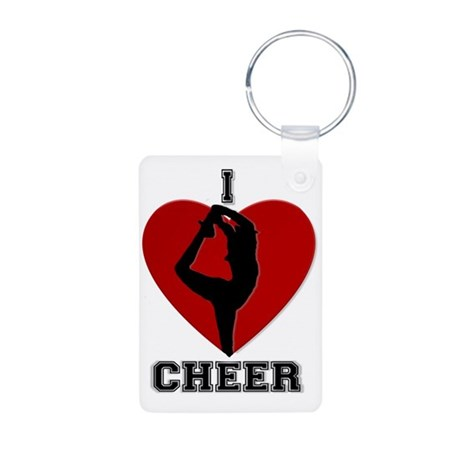I love cheer Aluminum Photo Keychain