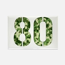 Number 80, Camo Rectangle Magnet