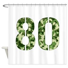 Number 80, Camo Shower Curtain