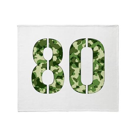 Number 80, Camo Throw Blanket