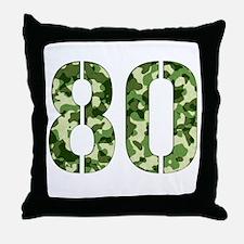 Number 80, Camo Throw Pillow