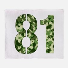 Number 81, Camo Throw Blanket