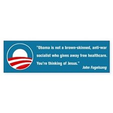 Thinking of Jesus (Pro Obama) Car Sticker