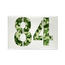 Number 84, Camo Rectangle Magnet