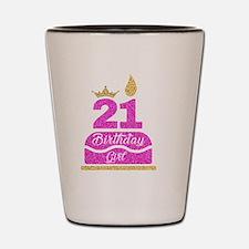 Unique 21st birthday Shot Glass