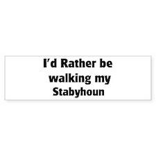 Rather: Stabyhoun Bumper Bumper Sticker