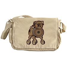 Steampunk Pug Messenger Bag