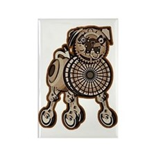 Steampunk Pug Rectangle Magnet