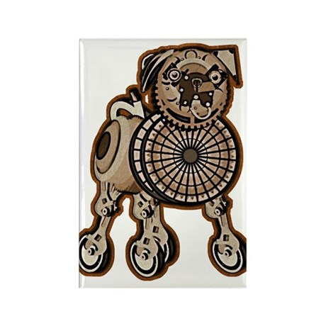 Steampunk Pug Rectangle Magnet (10 pack)
