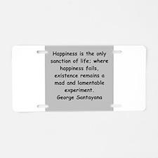santayana Aluminum License Plate