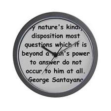santayana Wall Clock