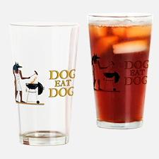 Dog Eat Dog Drinking Glass