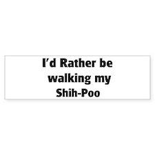 Rather: Shih-Poo Bumper Bumper Sticker