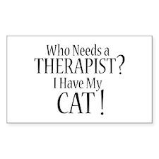 THERAPIST Cat Decal