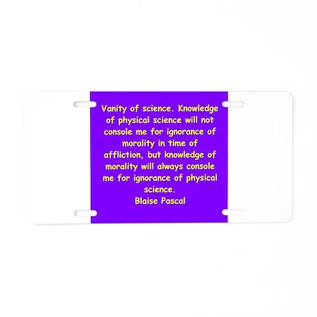 blaise pascal Aluminum License Plate