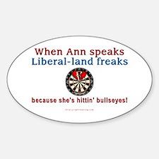 """""""When Ann Speaks"""" Oval Decal"""