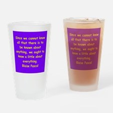 blaise pascal Drinking Glass