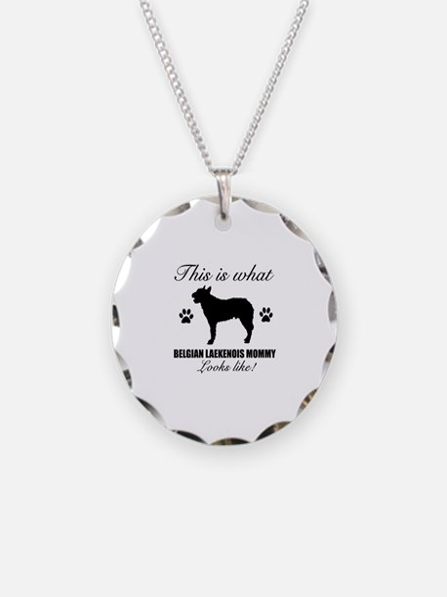 Belgian Laekenois Mommy Necklace Circle Charm