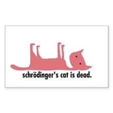 Schrödinger's Cat Sticker (dead)