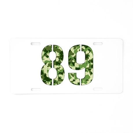 Number 89, Camo Aluminum License Plate