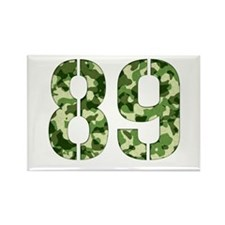 Number 89, Camo Rectangle Magnet